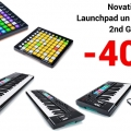Discount of 40% for all Novation Launchpad and Launchkey 2nd Gen models!